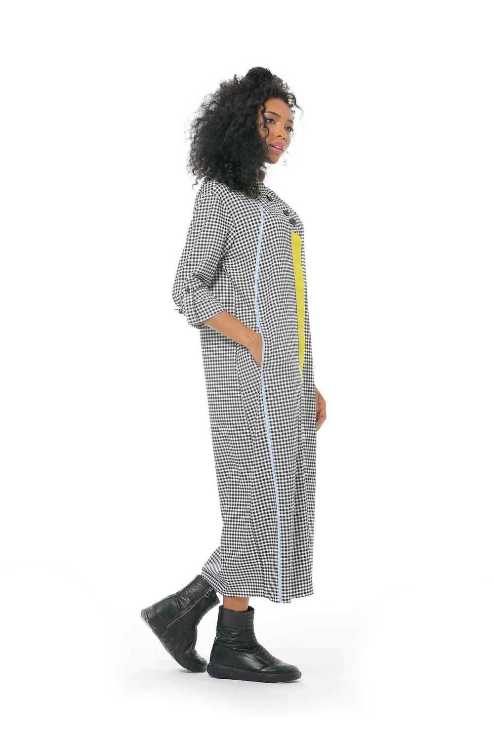 Square Patterned Dress - Mixed