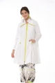 Button Detailed Trench Coat - White