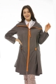 Button Detailed Trench Coat - Grey