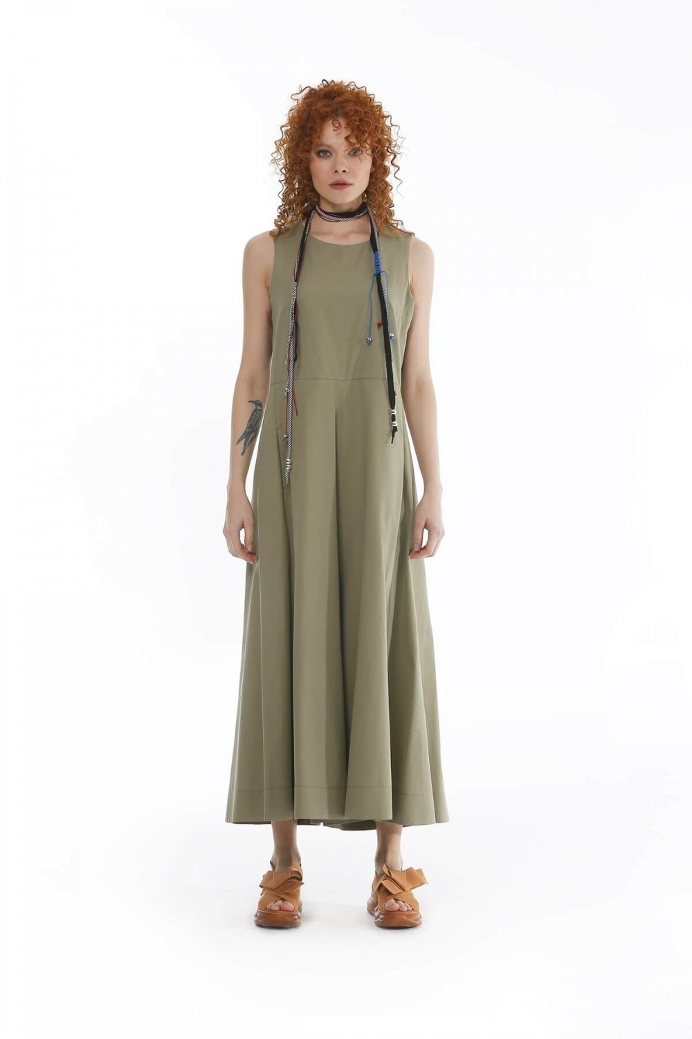 Trotter Detailed Jumpsuit - Green