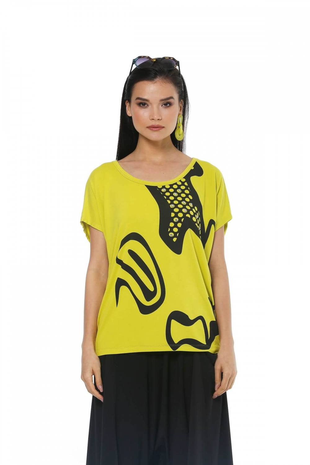 Accessory Detailed Blouse - Green